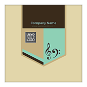 Music Badge - stickers-labels Maker