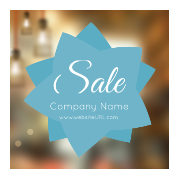 Personalize Our Star Sale Sticker Design Template front - Stickers Maker