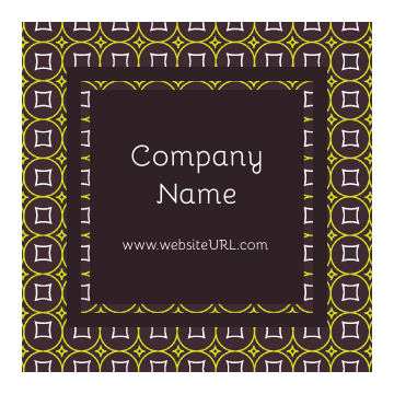 Print Custom Stickers with Our Green and Brown Pattern Design Template front - Stickers Maker
