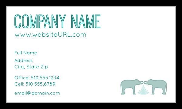 Elephant Textile front - Ultra Business Cards Maker