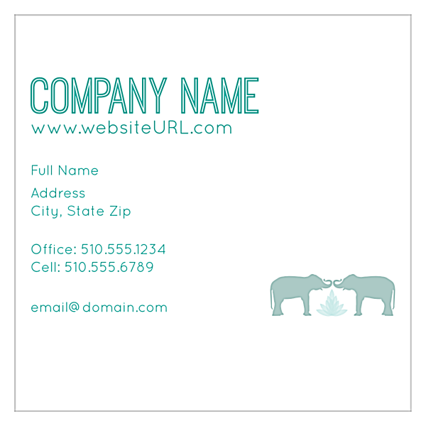 Elephant Textile front - Ultra Business Cards Maker