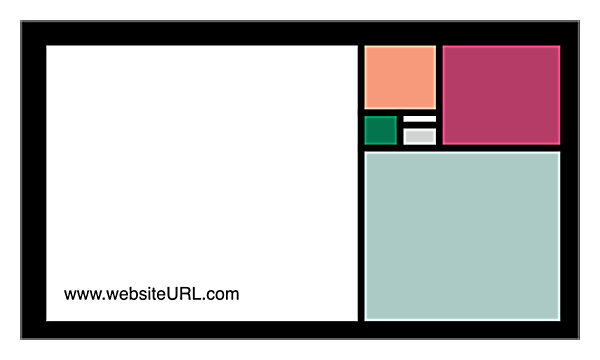 Colored Rectangles back - Ultra Business Cards Maker