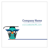 Classroom Owl - ultra-business-cards Maker