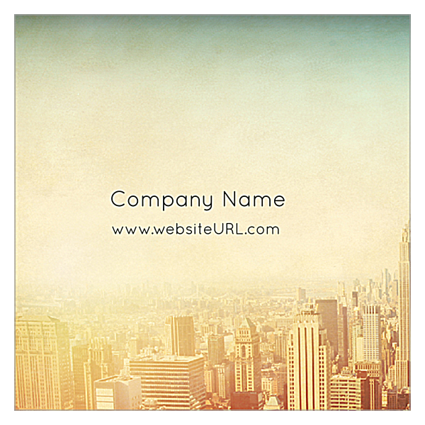Cityscape Dream front - Ultra Business Cards Maker