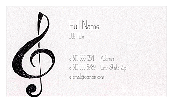 Clefs front - Ultra Business Cards Maker