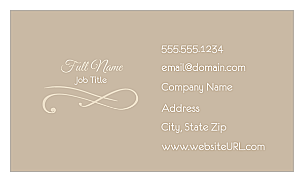 Elegant Scroll front - Ultra Business Cards Maker