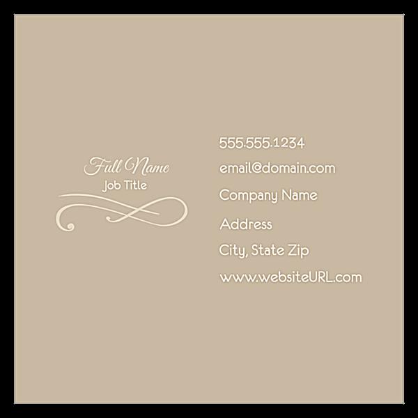 Elegant Scroll front - Ultra Business Cards Maker