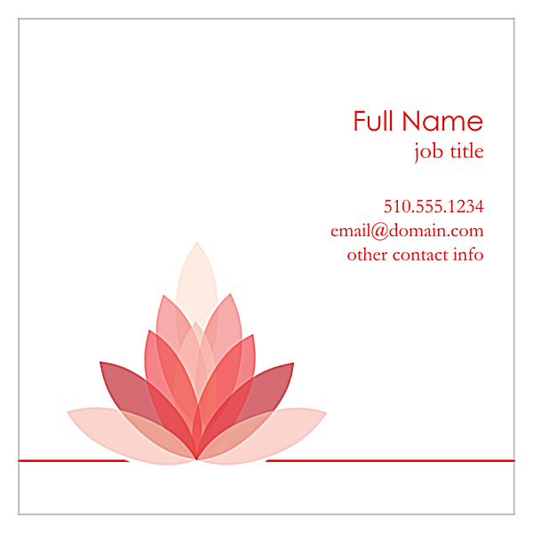 Lotus Connection back - Ultra Business Cards Maker