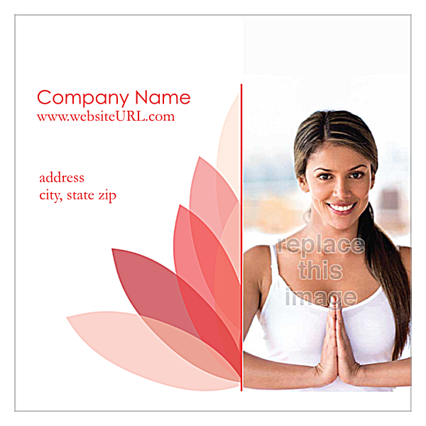 Lotus Connection front - Ultra Business Cards Maker