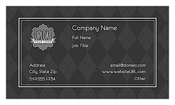 Gray Argyle front - Ultra Business Cards Maker