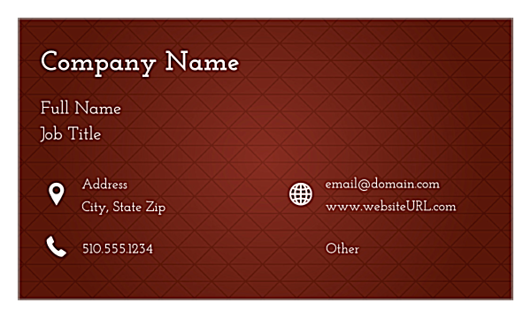 Triangle Grid front - Ultra Business Cards Maker
