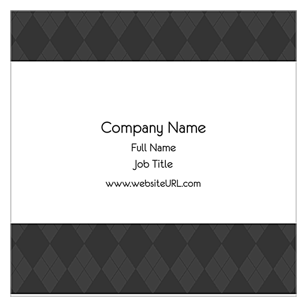 Gray Argyle back - Ultra Business Cards Maker