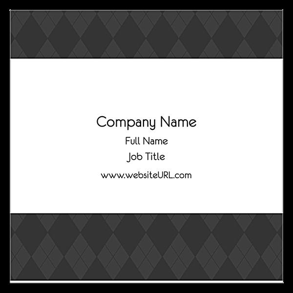 Gray Argyle back - Ultra Business Cards Maker