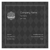 Gray Argyle - ultra-business-cards Maker
