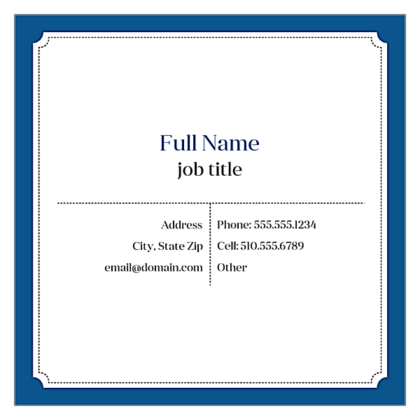 Classic Card front - Ultra Business Cards Maker
