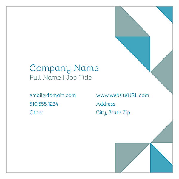 Geometric Fun front - Ultra Business Cards Maker