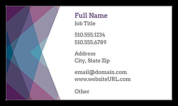 Purple Haze front - Ultra Business Cards Maker