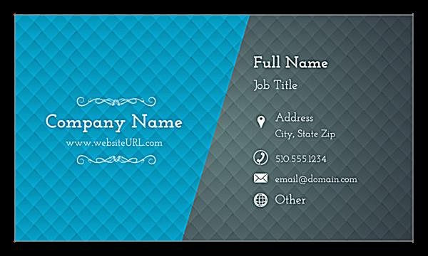 Blue & Gray Diamonds front - Ultra Business Cards Maker