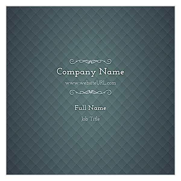 Blue & Gray Diamonds back - Ultra Business Cards Maker