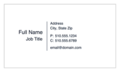 The Standard Style - ultra-business-cards Maker