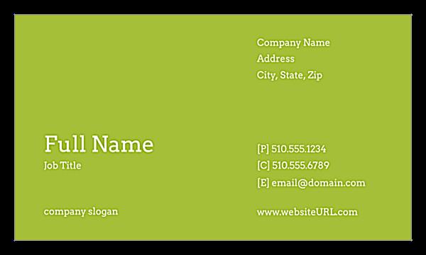 Color Grid front - Ultra Business Cards Maker