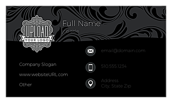 Swirl the Wine front - Ultra Business Cards Maker