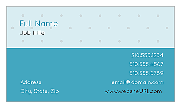 Polka Dots back - Ultra Business Cards Maker