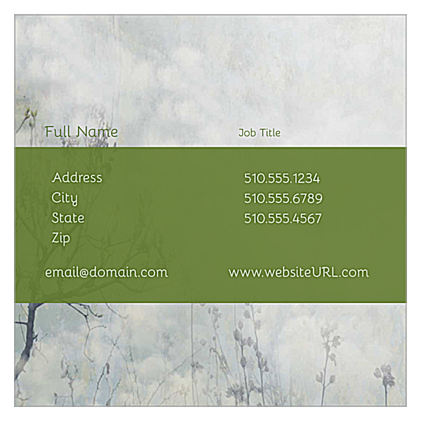 Clouds front - Ultra Business Cards Maker