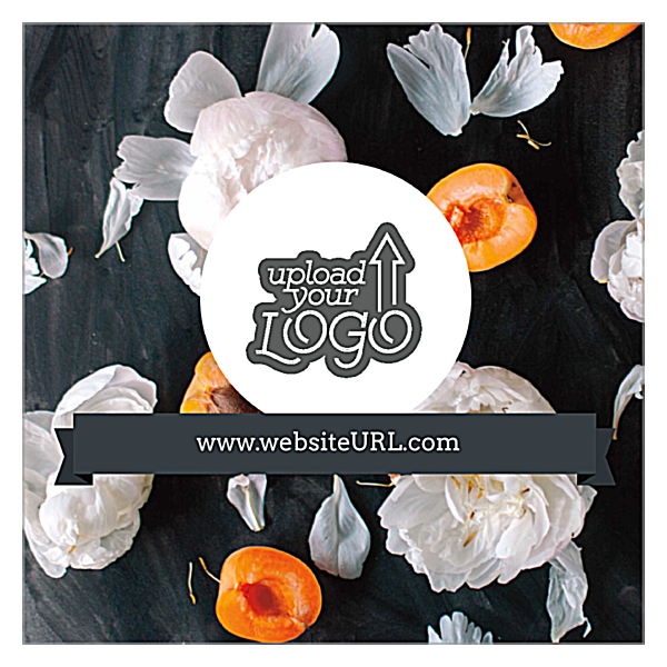 Peachy Peonies front - Ultra Business Cards Maker