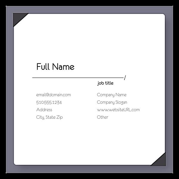Indexed Elegance back - Ultra Business Cards Maker