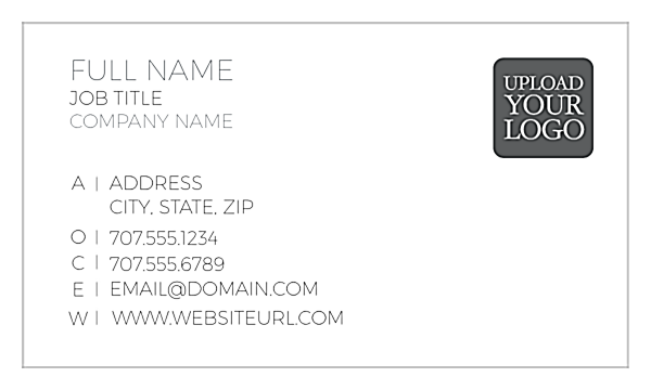 Left Align One front - Ultra Business Cards Maker