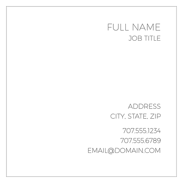 Right Align Two back - Ultra Business Cards Maker