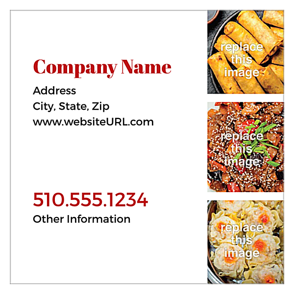 What's Cookin'? back - Ultra Business Cards Maker