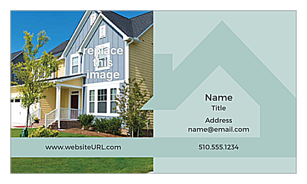 Real Estate BC front - Ultra Business Cards Maker