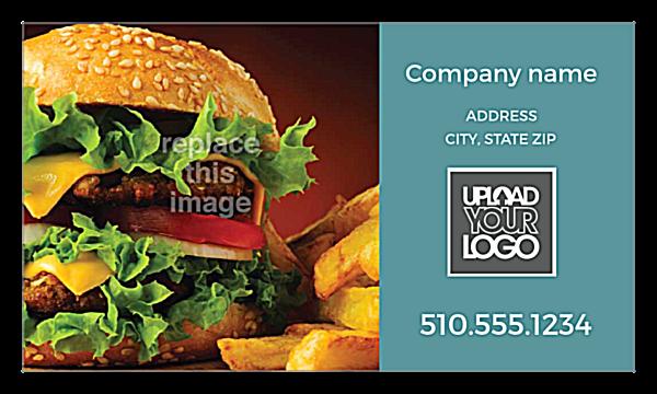 Burger & Fries front - Ultra Business Cards Maker