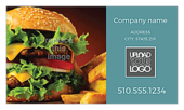 Burger & Fries - ultra-business-cards Maker