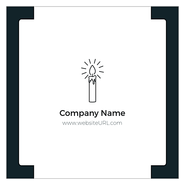 CandleLight back - Ultra Business Cards Maker