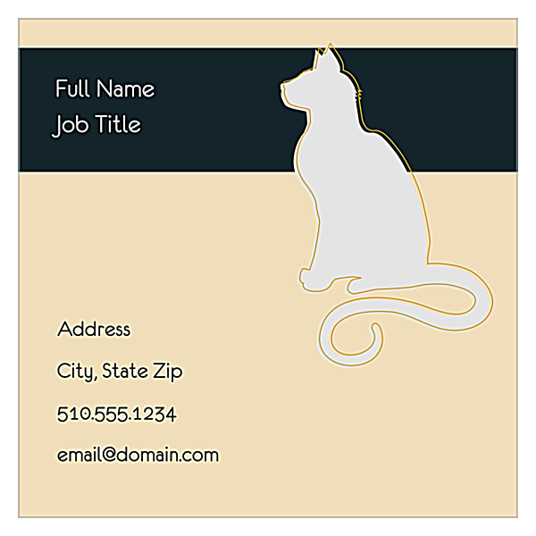 Couture Pets back - Ultra Business Cards Maker