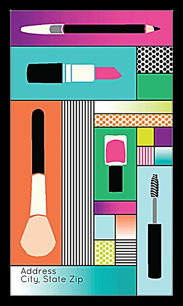 Pop Makeup back - Ultra Business Cards Maker