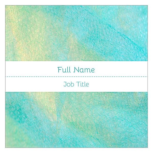 Teal Shimmer back - Ultra Business Cards Maker