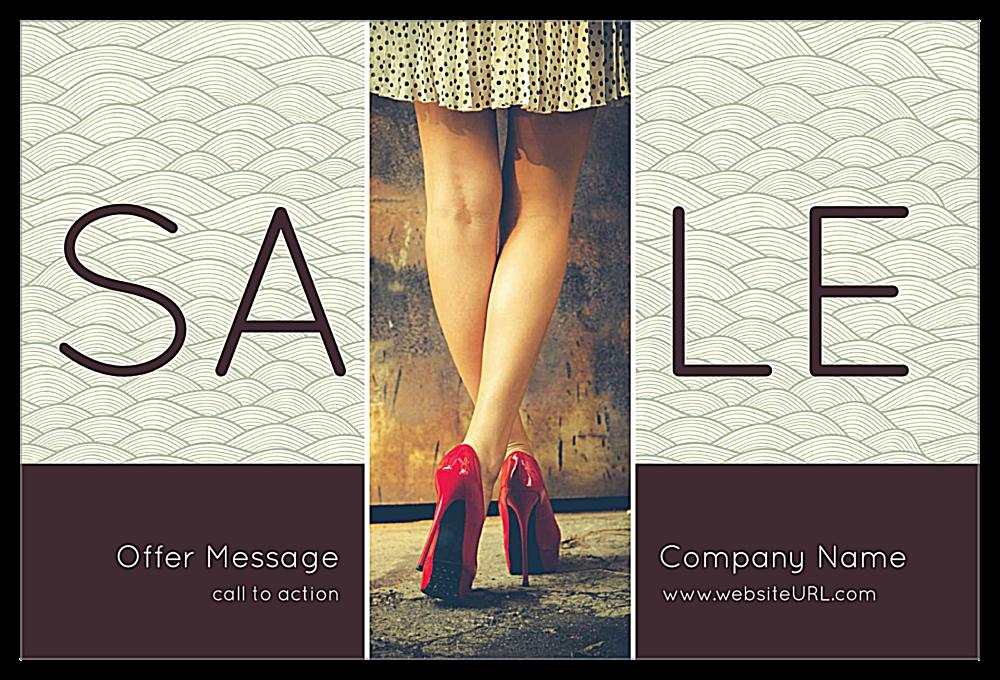 Wavy Sale front - Ultra Postcards Maker