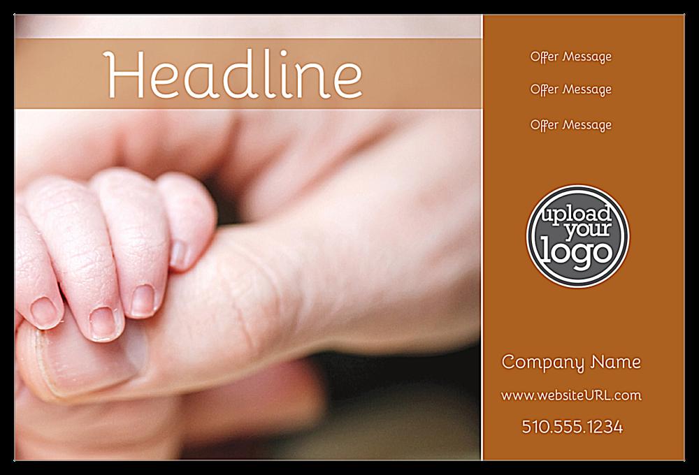 Baby Hands front - Ultra Postcards Maker
