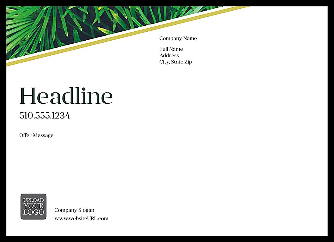 Palm Leaves back - Ultra Postcards Maker