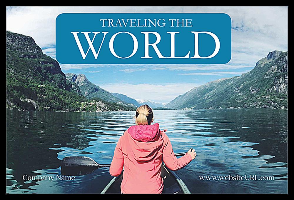 Travel The world front - Ultra Postcards Maker