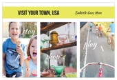 Small Town Tourism - ultra-postcards Maker
